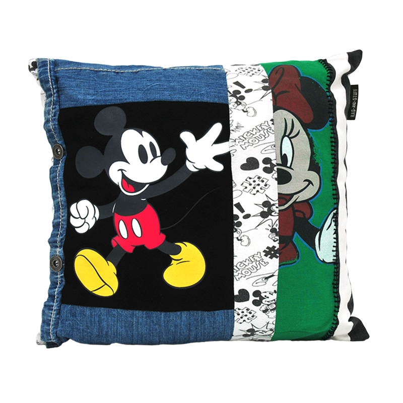 Vintage Mickey Minnie kussen voorkant