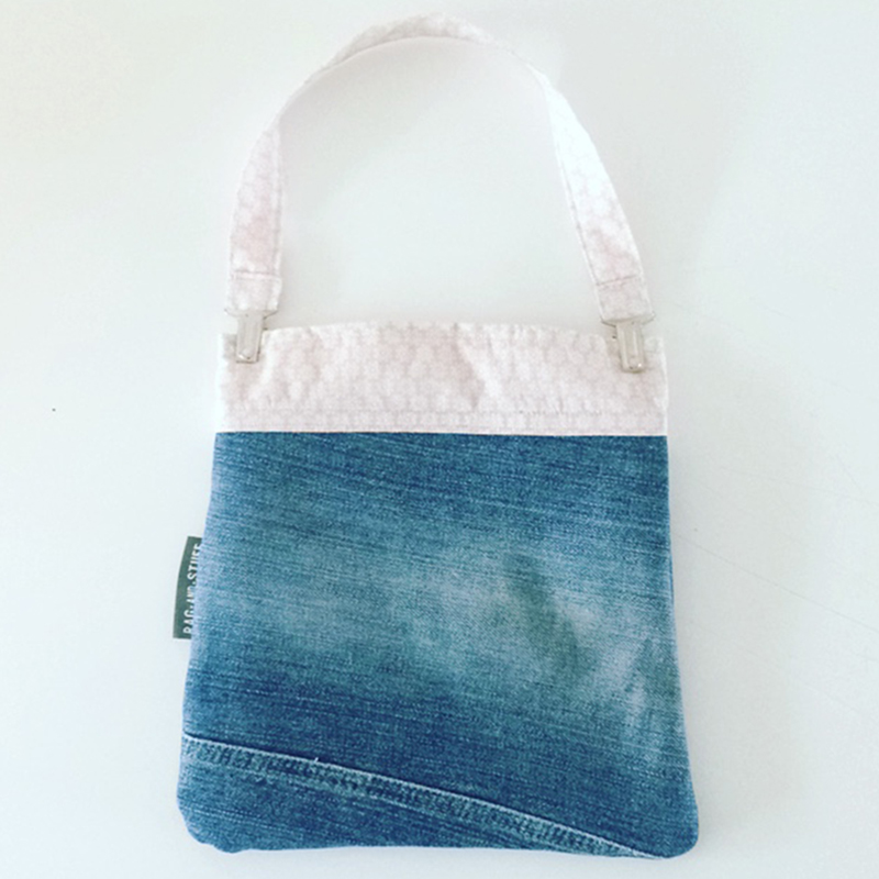 Kids tas vintage roze hart achterkant