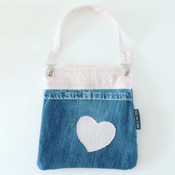 Kids tas vintage roze hart voorkant